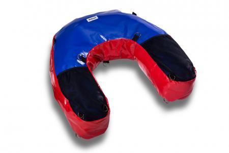 U-Bag motocyklowy enduro czerwono-niebieski PCV