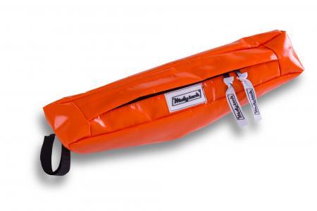 Sakwa motocyklowa na kierownicę pomarańczowa PCV